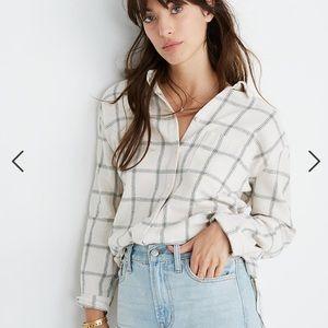 NWT Madewell Flannel Oversize Ex-Boyfriend Shirt